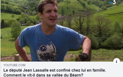 Confinement de Jean Lassalle à Lourdios-Ichère par France 3 Nouvelle-Aquitaine