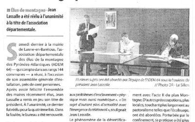 Réélection en tant que Président de l'Association des élus de la montagne (ADEM) Pyrénées-Atlantiques