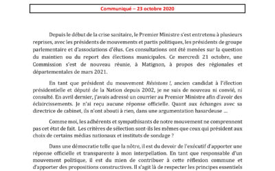 Commission sur les régionales et départementales : Résistons! ni convié ni consulté !
