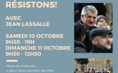 Les Rencontres Résistons! 10 et 11 octobre