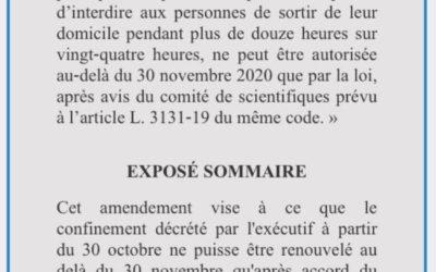 Conditionner le confinement à l'accord du Parlement : amendement adopté !