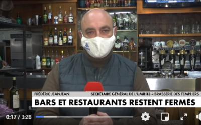 La colère des restaurateurs : retrouvez l'interview de notre compagnon de route Frédéric Jeanjean