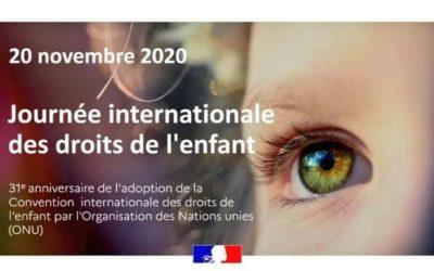 20 novembre : Journée mondiale de l'enfance et de La Convention internationale des droits de l'enfant (CIDE)