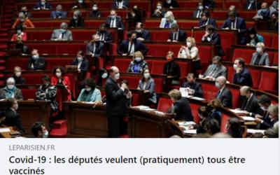 Le vaccin et les députés, article du Parisien