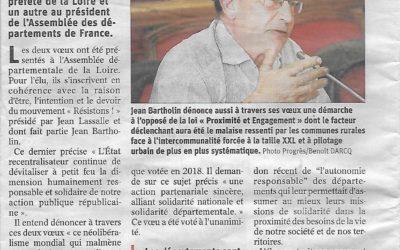 L'appel de Jean Bartholin notre relais départemental Loire