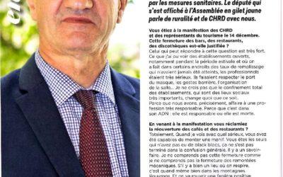 """Interview de Jean Lassalle pour """"Nous CHRD"""" le magazine de l'Union des Métiers et des Industries de l'Hôtellerie UMIH"""