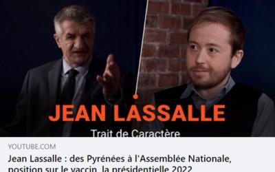 Portrait de Jean Lassalle par Caractères média