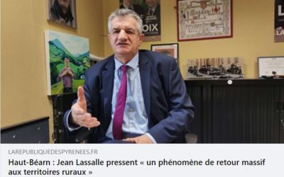 """Interview pour la République des Pyrénées : """"Repensons l'aménagement de notre territoire"""""""