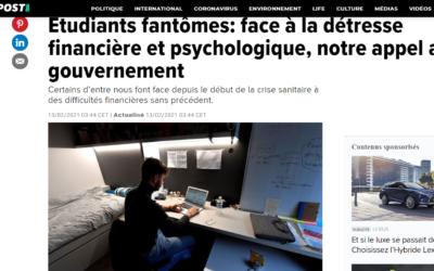 """Soutien à la Tribune des """"Etudiants fantômes"""""""
