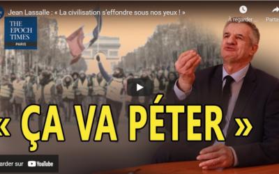 """Interview Jean Lassalle """"La civilisation s'effondre sous nos yeux"""""""