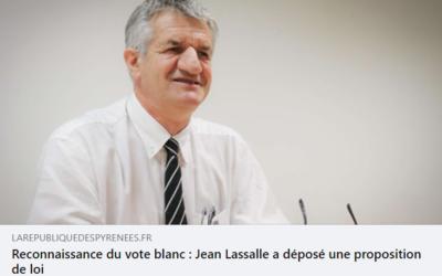 Interview République des Pyrénées : PPL de Jean Lassalle sur le vote blanc