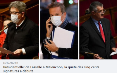 Article du Figaro sur la collecte des parrainages – présidentielle 2022