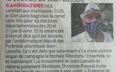 Soutien à Christophe Prévost candidat aux départementales dans le Gard