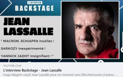 Interview de Jean Lassalle par Hugo Magnin pour Backstage