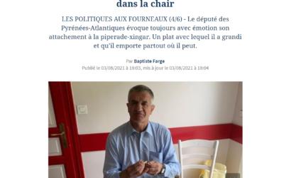"""""""Jean Lassalle, la gastronomie béarnaise dans la chair"""" Le Figaro"""