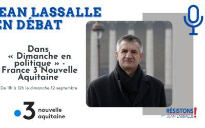 FR3 NA : Débat présidentielle 2022 avec Jean Lassalle, Hélène Thouy (Parti animaliste) et Philippe Poutou (NPA)