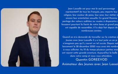 Portrait d'un JJL : Quentin Gorrevod