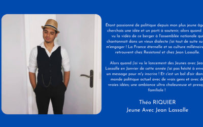Portrait d'un JJL : Théo Riquier