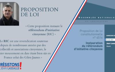 Proposition de loi de Jean Lassalle : pour l'instauration du RIC